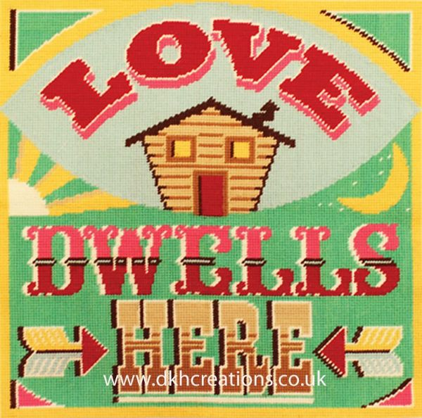 Love Dwells Here Cushion Front Tapestry Kit